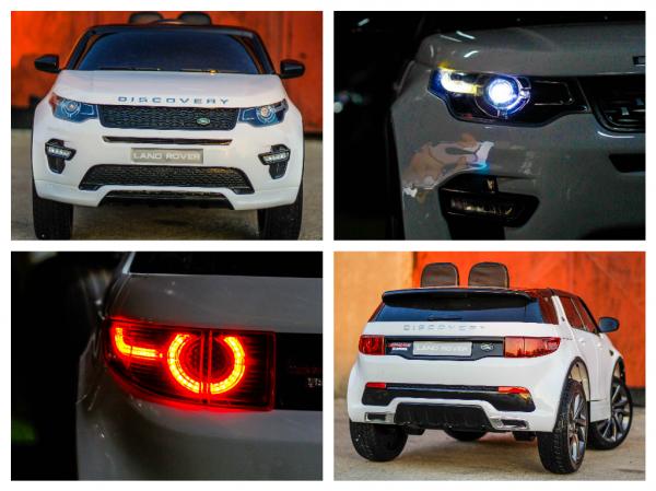Masinuta electrica Land Rover Discovery DELUXE cu Touchscreen Mp4 #ALB 7