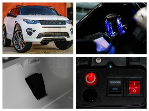 Masinuta electrica Land Rover Discovery DELUXE cu Touchscreen Mp4 #ALB 8