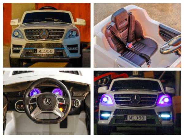 Masinuta electrica Mercedes ML350 2x25W STANDARD 12V # ALB 6