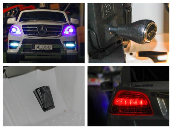 Masinuta electrica Mercedes ML350 2x25W STANDARD 12V # ALB 8