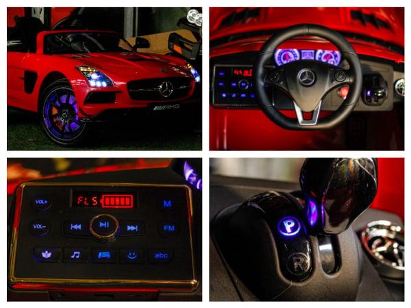 Masinuta electrica Mercedes SLS AMG PREMIUM #Rosu 7