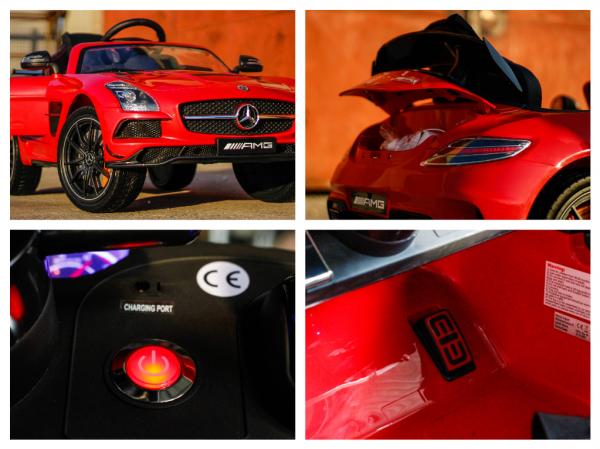 Masinuta electrica Mercedes SLS AMG PREMIUM #Rosu 8