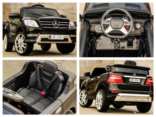 Masinuta electrica Mercedes ML350 2x25W STANDARD 12V #Negru 8