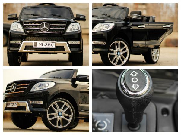 Masinuta electrica Mercedes ML350 2x25W STANDARD 12V #Negru 6