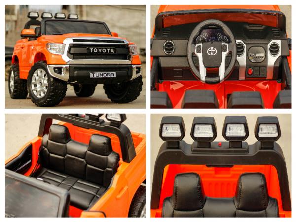 Masinuta electrica Toyota Tundra 2x45W PREMIUM #Portocaliu 6