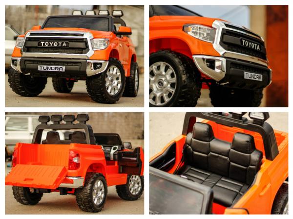 Masinuta electrica Toyota Tundra 2x45W PREMIUM #Portocaliu 7