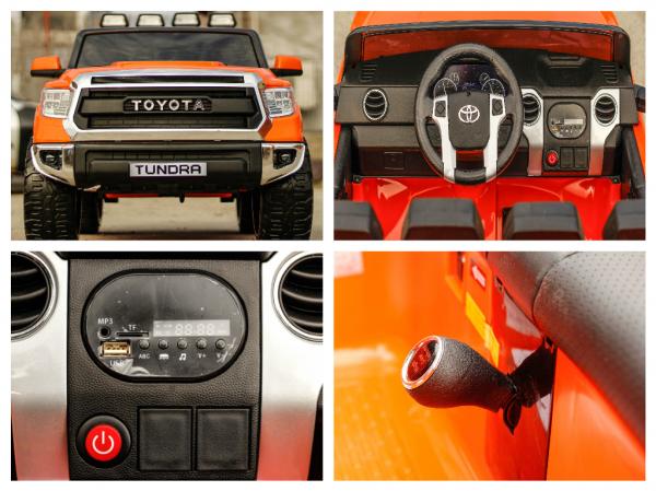 Masinuta electrica Toyota Tundra 2x45W PREMIUM #Portocaliu 8