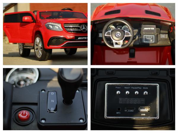 Masinuta electrica Mercedes GLS63 AMG 4x4 PREMIUM 24V #Rosu 8