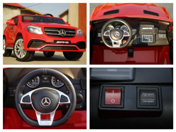 Masinuta electrica Mercedes GLS63 AMG 4x4 PREMIUM 24V #Rosu 9