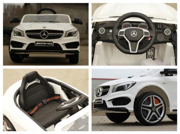 Masinuta electrica Mercedes CLA45 STANDARD 2x 25W 12V #ALB 6