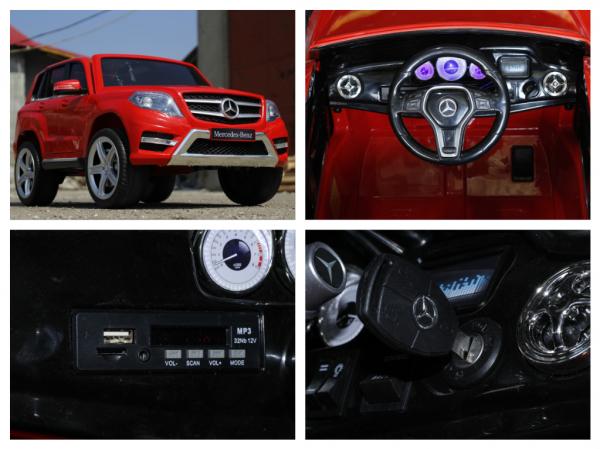 Masinuta electrica Mercedes GLK350 PREMIUM 2x35W 2X6V #Rosu 6