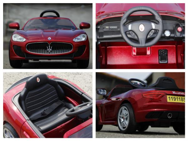 Masinuta electrica Maserati Kids CU ROTI MOI 2x 35W 12V #Rosu 6