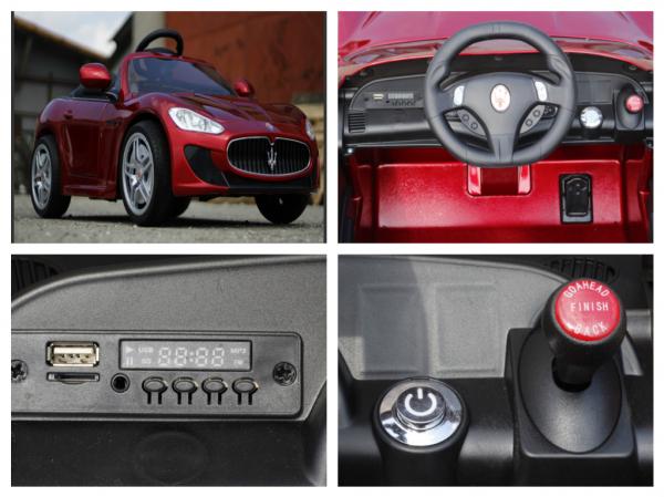 Masinuta electrica Maserati Kids CU ROTI MOI 2x 35W 12V #Rosu 7