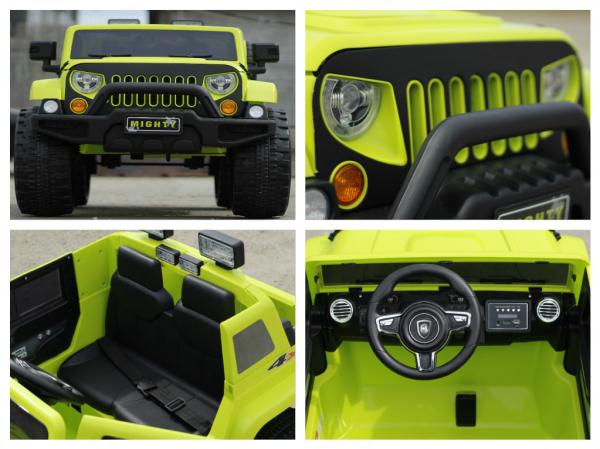 Masinuta electrica JeeP Outdoor 12V STANDARD #Verde [4]