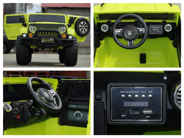 Masinuta electrica JeeP Outdoor 12V STANDARD #Verde [5]