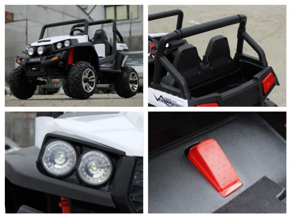 UTV electric pentru copii Golf-Kart 4x45W 2x12V PREMIUM #ALB 6