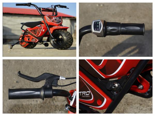 Mini Motocicleta electrica pentru copii NITRO ECO Flee 250W #Rosu 7