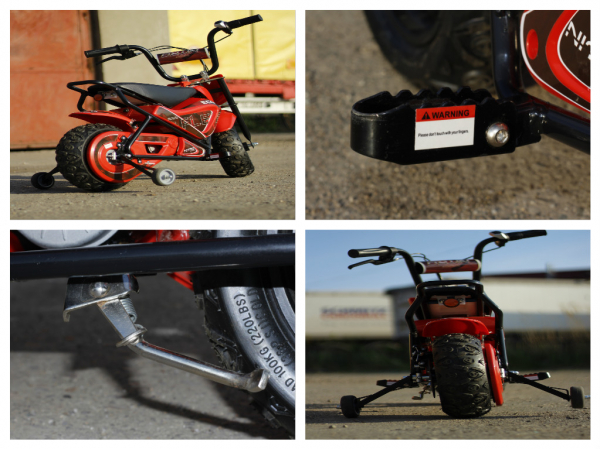 Mini Motocicleta electrica pentru copii NITRO ECO Flee 250W #Rosu 8