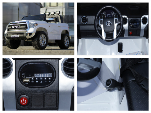 Masinuta electrica Toyota Tundra 2x45W PREMIUM #Alb 8