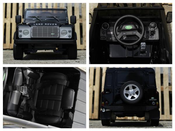 Masinuta electrica Land Rover Defender 2x35W 12V cu ROTI MOI #Negru 6
