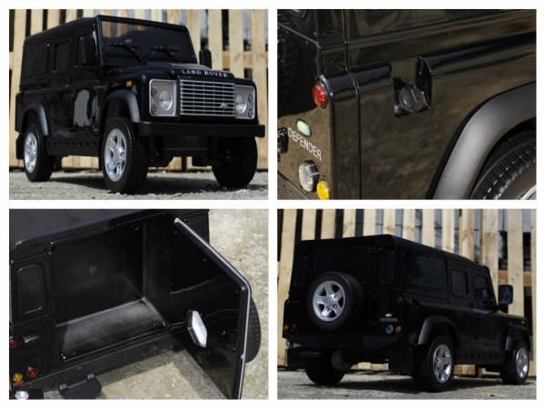 Masinuta electrica Land Rover Defender 2x35W 12V cu ROTI MOI #Negru 8