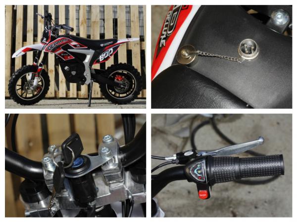 Mini Motocicleta Eco Ghepard 500W 24V #Rosu 7