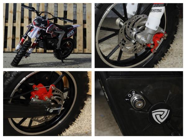 Mini Motocicleta Eco Ghepard 500W 24V #Rosu 8