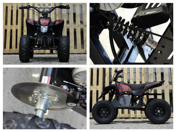 Mini ATV electric Pentru copii NITRO Eco Trio Quad 350W 24V #Rosu 8