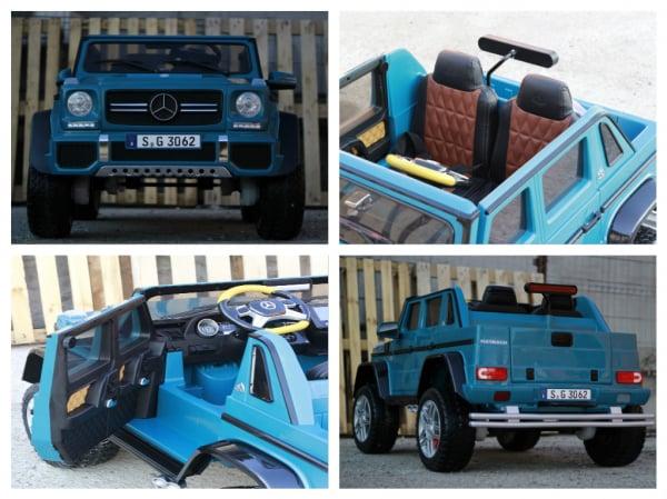 Masinuta electrica Mercedes G650 180W MAYBACH DELUXE #Albastru 6