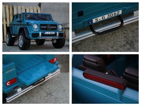 Masinuta electrica Mercedes G650 180W MAYBACH DELUXE #Albastru 7