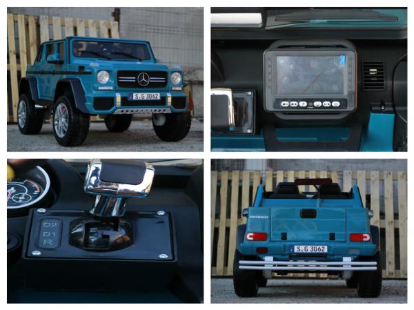 Masinuta electrica Mercedes G650 180W MAYBACH DELUXE #Albastru 8