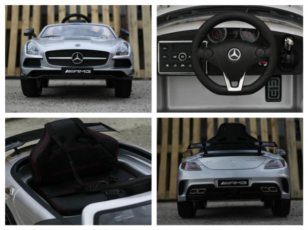 Masinuta electrica Mercedes SLS AMG PREMIUM #Silver 6