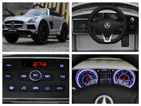 Masinuta electrica Mercedes SLS AMG PREMIUM #Silver 7