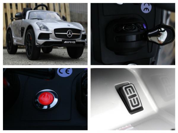 Masinuta electrica Mercedes SLS AMG PREMIUM #Silver 8