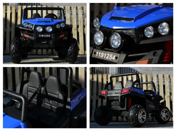 UTV electric pentru copii Golf-Kart 4x4 180W  PREMIUM #Albastru 6