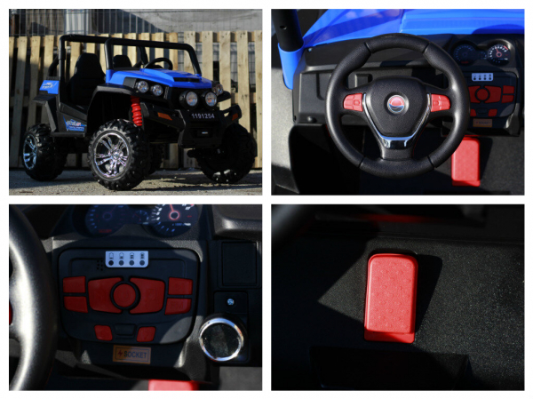 UTV electric pentru copii Golf-Kart 4x4 180W  PREMIUM #Albastru 7