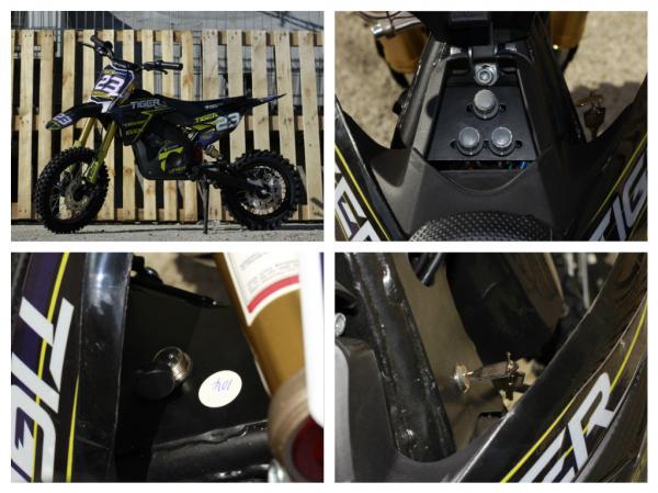 Motocicleta electrica Eco Tiger 1000W 36V 12/10 #Albastru 6
