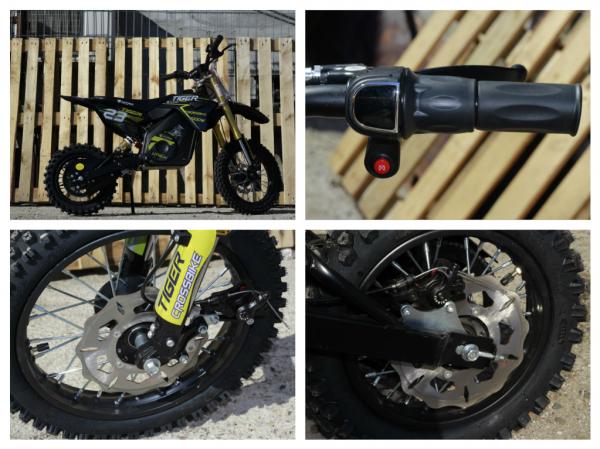 Motocicleta electrica Eco Tiger 1000W 36V 12/10 #Albastru 7