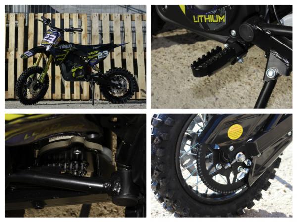 Motocicleta electrica Eco Tiger 1000W 36V 12/10 #Albastru 8