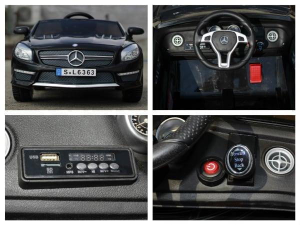 Masinuta electrica Mercedes SL63 AMG STANDARD 12V #Negru 7