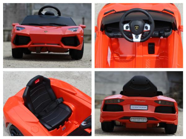 Masinuta electrica Lamborghini Aventador LP 700-4 STANDARD #Portocaliu 6