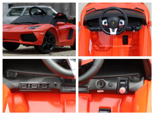 Masinuta electrica Lamborghini Aventador LP 700-4 STANDARD #Portocaliu 7