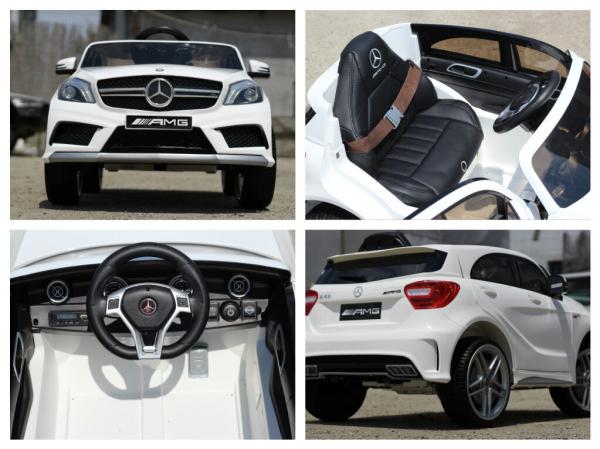 Masinuta electrica Mercedes A45 AMG PREMIUM 12V #ALB 6