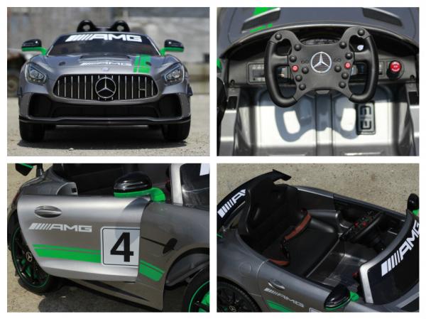 Masinuta electrica copii 2-5 ani Mercedes GT-R gri [7]