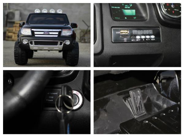 Masinuta electrica copii Ford Ranger F150, negru 7