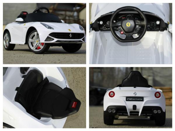 Masinuta electrica Ferrari F12 1x 25W STANDARD 12V #Alb 7