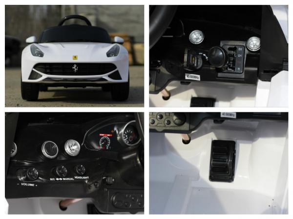 Masinuta electrica Ferrari F12 1x 25W STANDARD 12V #Alb 8