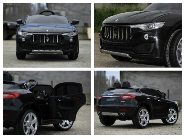Masinuta electrica copii Maserati Levante negru 6