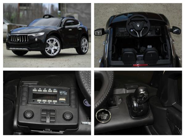 Masinuta electrica copii Maserati Levante negru 8