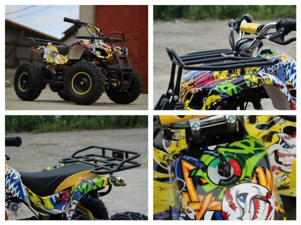 Mini ATV electric pentru copii NITRO Torino Quad 1000W 48V #Galben 6